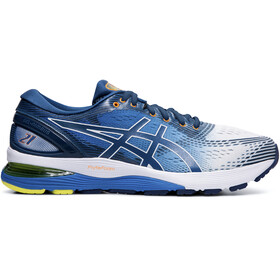 asics Gel-Nimbus 21 Shoes Men, white/lake drive